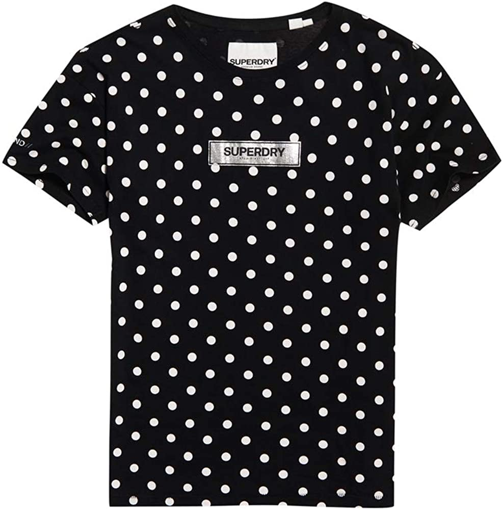 Superdry Studio 395 Polka Dot All Over Print Portland Camiseta Mujer Optic: Amazon.es: Ropa y accesorios