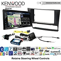 Volunteer Audio Kenwood DNX574S Double Din Radio Install Kit with GPS Navigation Apple CarPlay Android Auto Fits 2006-2013 BMW 3 Series