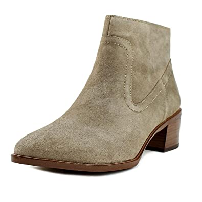 BCBGeneration Womens Allegro Leather Closed Toe Ankle Smoke Taupe Size 8.5