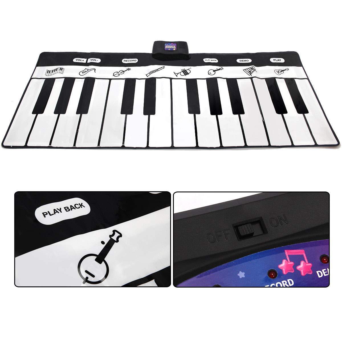 FDInspiration 71'' Kids 24-Key Keyboard Dance Gigantic Piano Playmat w/ 4 Modes with Ebook by FDInspiration (Image #6)