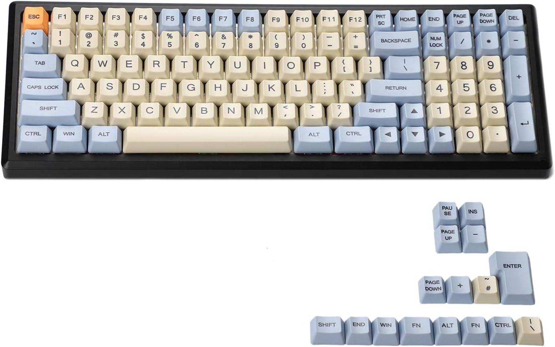 YMDK Dye Sub Dye Sublimation 96 84 ANSI ISO Keyset OEM Thick PBT Keycap for MX Mechanical Keyboard YMD96 RS96 YMD75 KBD75 FC980M (Only Keycap Godspeed