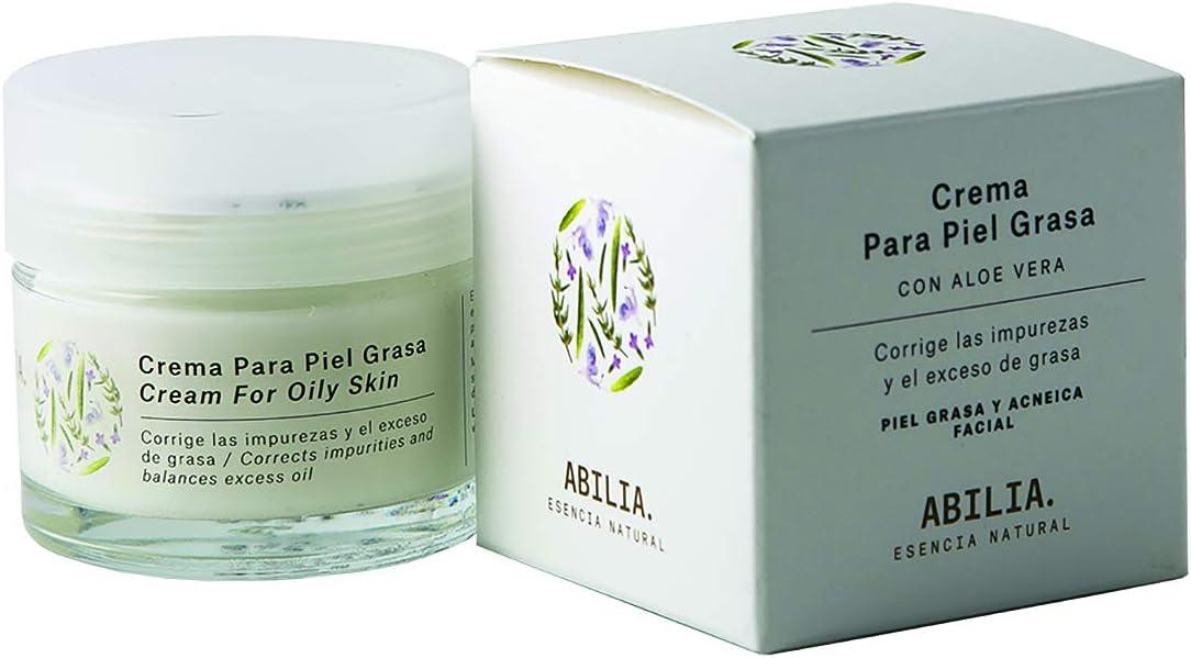 Abilia. Esencia Natural Crema Facial Hidratante para Pieles Grasas Bio Ecológica Certificada, Pack de 1: Amazon.es: Belleza