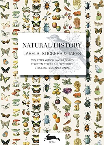 Label & Sticker Book Natural History (English, Spanish, French and German Edition) (Pepin Press)