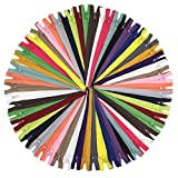 "YaHoGa 80pcs 14 Inch (35cm) Nylon Coil Zippers for Sewing Crafts Tailor Nylon Zippers Bulk 20 Colors (14"" 80pcs)"