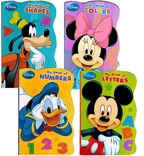 Disney Mickey Mouse quotMy First Booksquot  Set of 4 Shaped Disney Mickey Mouse Board Books for Toddlers Kids