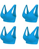 Marielle 4 Pack (Colours) Bra® - The Ultimate comfort Bra. Premium Quality Thick Material - Guaranteed Best On The Market Seamless Support Comfort