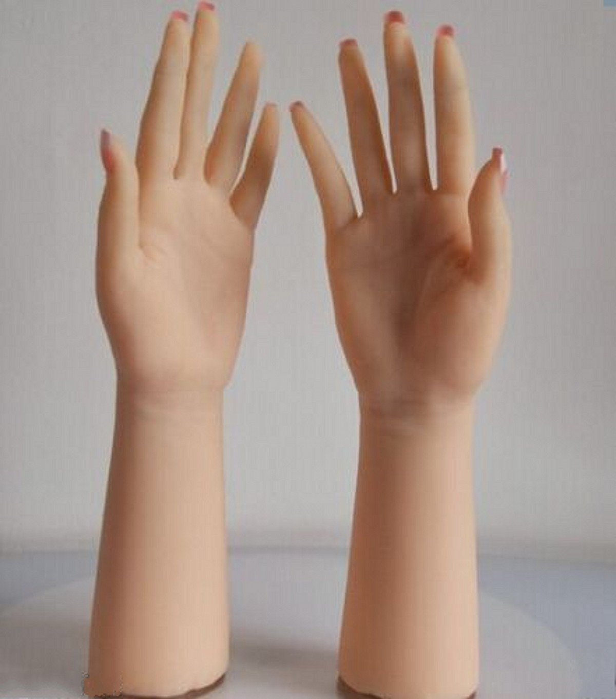 Long – Realistic Silicone hand Female Displays Model Mannequin 1-Pair