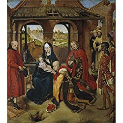 Oil Painting 'Memling Hans (Copy Weyden Roger Van Der) La Adoracion De Los Reyes Magos Second Half Of 15 Century' 24 x 27 inch / 61 x 69 cm , on High Definition HD canvas prints, Bed Room, Hom decor