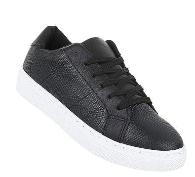 f81786adc60d82 Schuhcity24 Damen Schuhe 11828 Sneaker Schwarz 36