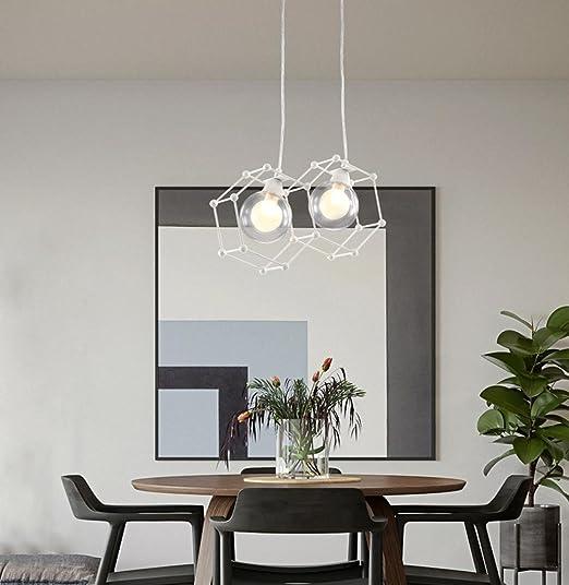 Modern Lampada A Sospensione Design Bianco Rotondo Ferro Hollow ...