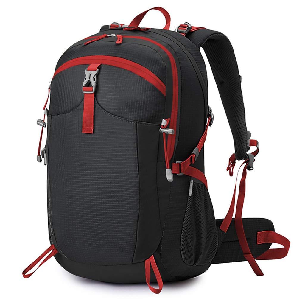 XYW-0006 Outdoor-Bergsporttasche ergonomische Tasche zum Wandern ultraleichter, wasserdichter, atmungsaktiver Schultergurt 40L - mit Regenschutz + Kopftuch
