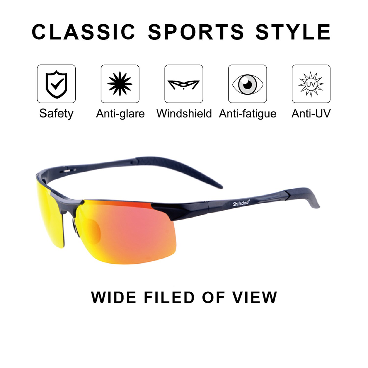 Sxacntg Cycling Glasses,Fishing Golf Glasses Polarized UV Protection Sunglasses,Sports Sunglasses High Grade for Outdoors Durable Frame for Men/Women/Boy/Girl by Sxacntg (Image #4)