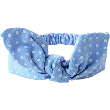 Ladiy Baby Toddler Girls Cute Casual Stripes Plaid Polka Dot Headband Hair Accessories