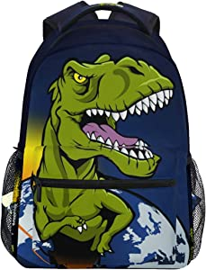 Dinosaur The Planet School Backpack Travel Rucksack Book Bag Laptop Backpack Casual Daypack for Travel/College/Work