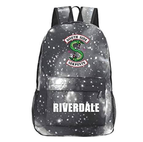 b806ff6323 Image Unavailable. Image not available for. Color  Xcoser Southside Serpents  Jughead Backpack for Boys Girls Student Schoolbag Bookbag