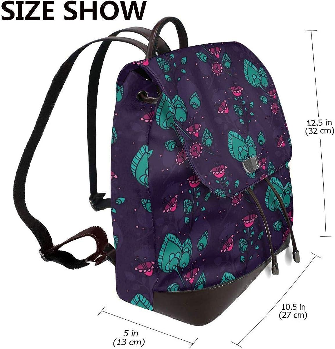Wild Lily Blossom - Mini borsa a tracolla da donna in vera pelle Fiori Vintage