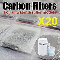 20PC D & Y Packs de filtres à charbon actif pour eau Pure Distiller