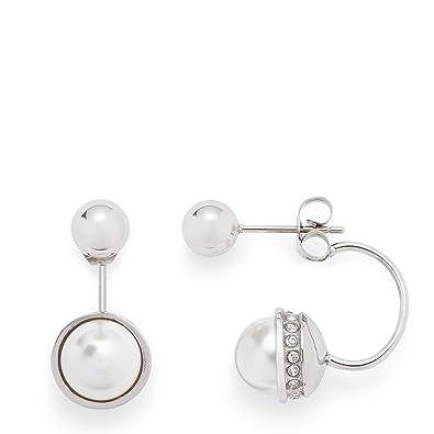 Leonardo Jewels pendientes Mujer acero inoxidable perla ...