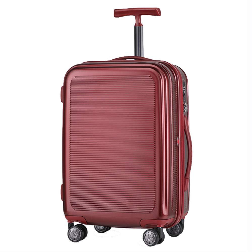 トロリーボックスPC大容量ポータブル出張ミュートキャスタースーツケース(赤) B07M8VQMDR