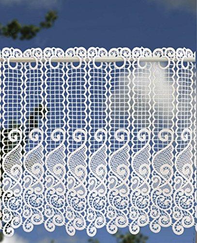 Scheibengardine Landhausgardine 42 x 125 cm weiß aus Spitze