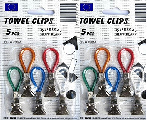 Amazon.com: TOWEL CLIPS 10 PCS Kitchen Tea Towel Pegs Dishcloth Hanger  SPECIAL OFFER By Klipp Klapp: Home U0026 Kitchen