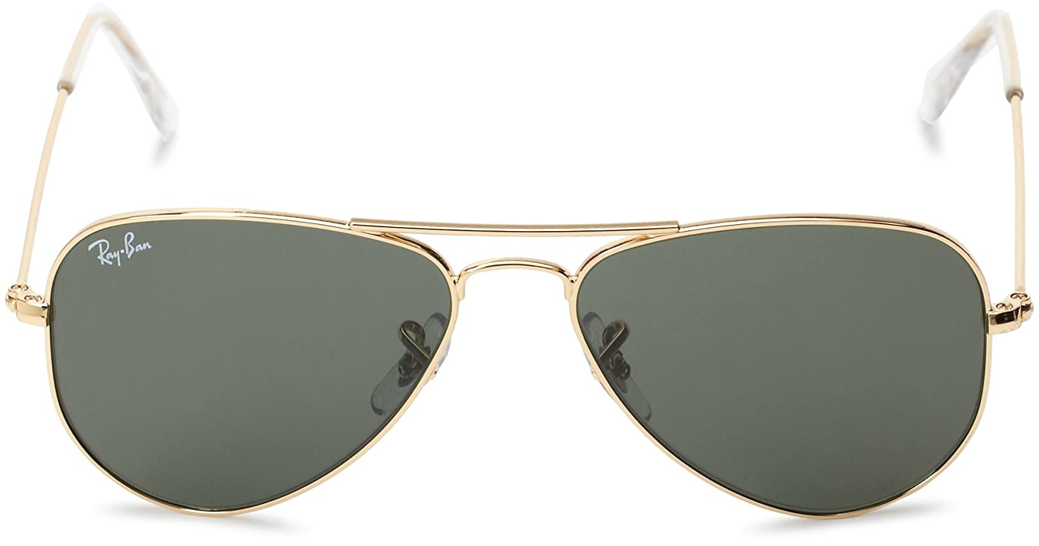 ray ban aviator sunglasses online shopping  amazon: ray ban aviator small metal arista frame crystal green lenses 52mm non polarized: clothing