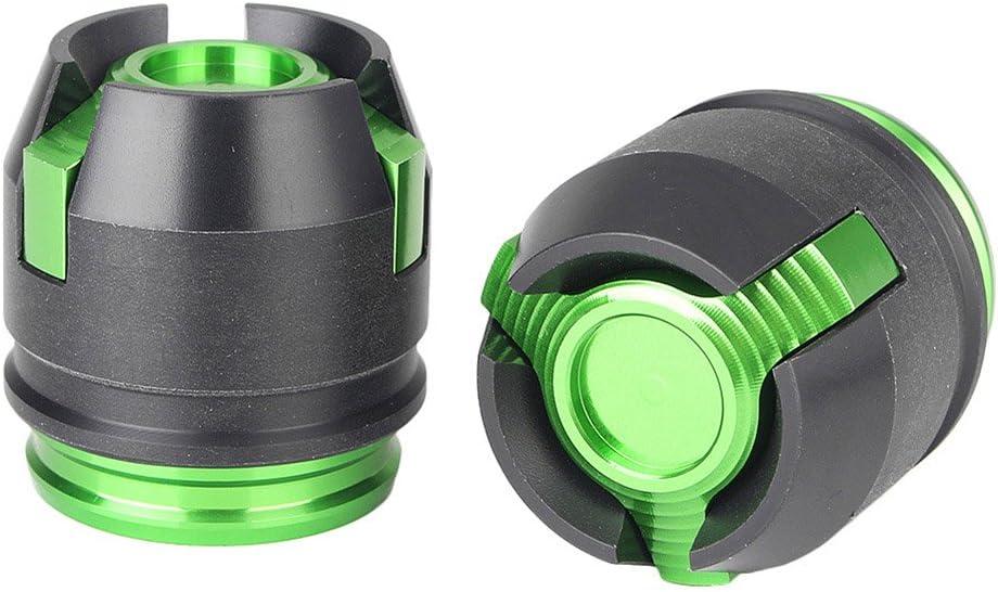 GZYF Motorcycle 12mm Axle Wheel Rim Fork Slider Crash Protector Compatible with Honda Grom 125 MSX125 Black