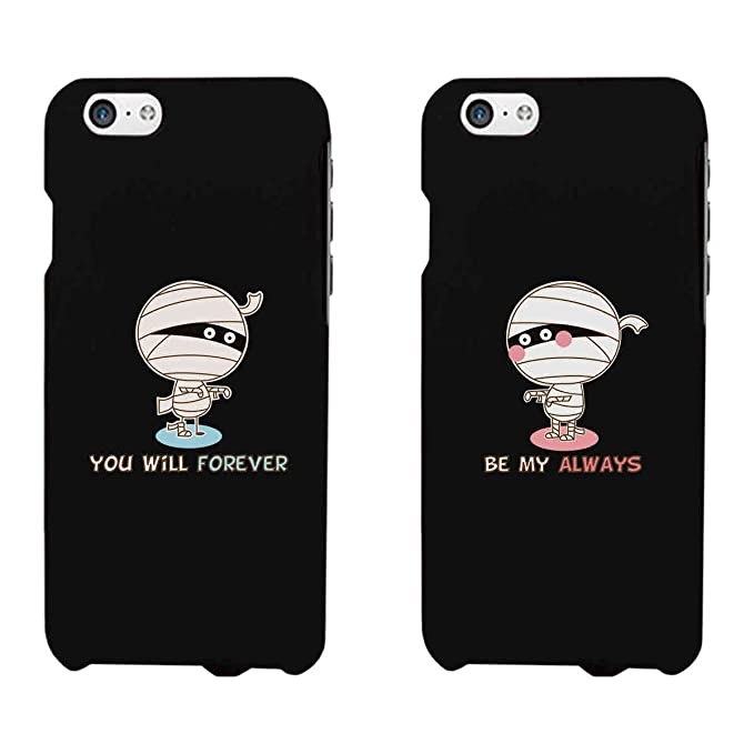 867f9e2248 Amazon.com: 365 Printing Forever Always Mummies Black Matching Couple Phone  Cases Halloween Gifts: Cell Phones & Accessories
