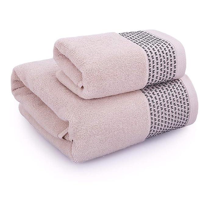 SYXLTSH 1 Toalla + Toalla de baño algodón Pareja Adulto Absorbente Suave Conjunto Blanco B: Amazon.es: Hogar