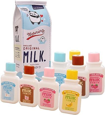 JENOR Cinta correctora para papeler/ía con dise/ño de botella de leche estilo oficina y material escolar