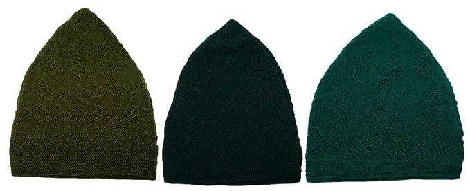 412e6930468 3x Islam Muslim Knit Cap Kufi Topi Prayer Hat Crochet Taqiyah Takke Skull  Beanie (3
