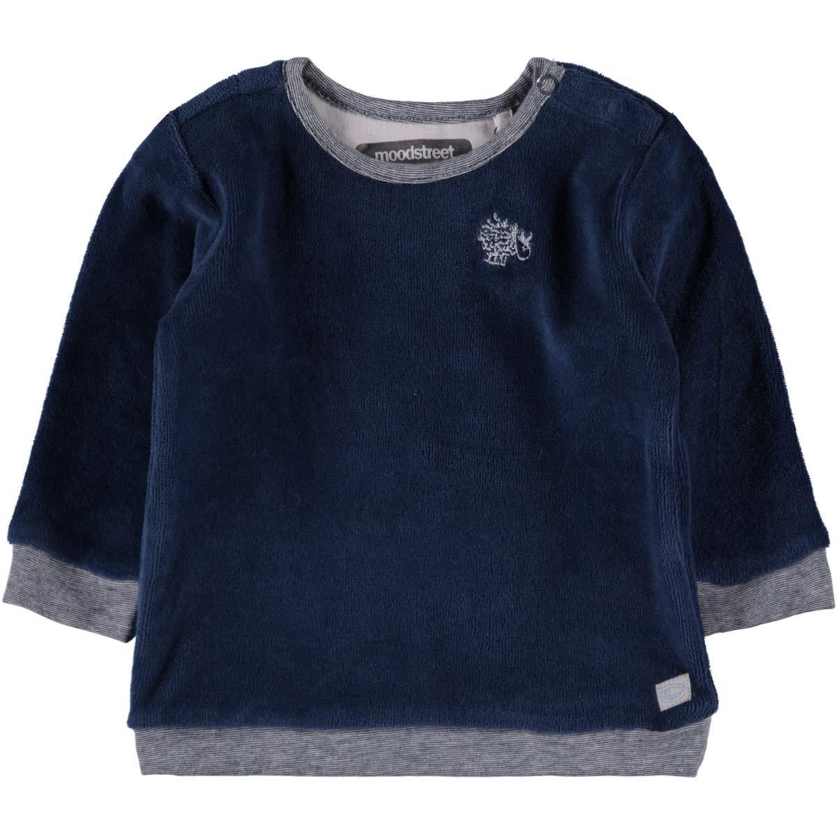 Moodstreet Baby Jungen Boys Nicki Shirt Pulli Langarm Petrol Blue 9383-175 (68)