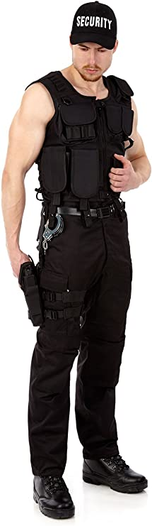 Disfraz de carnaval, SWAT Policía FBI de seguridad Set, como el ...