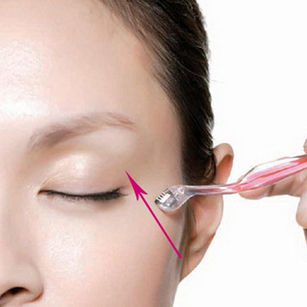 Gazechimp 3 Piezas Cuchilla De Ceja Navaja Raspador Afeita Facial Maquillaje Cosmético Belleza Rosa Para Mujer