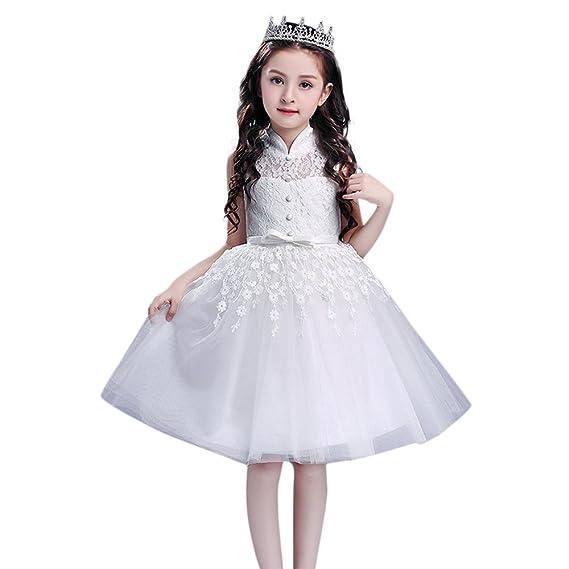 Gonna Tulle Bambina 312 Vovotrade Vestito da Ragazza Senza Maniche con  Stampa Vestito Elsa Frozen Bambina Principessa Flower Bowknot  Amazon.it   ... d5f0c89a473