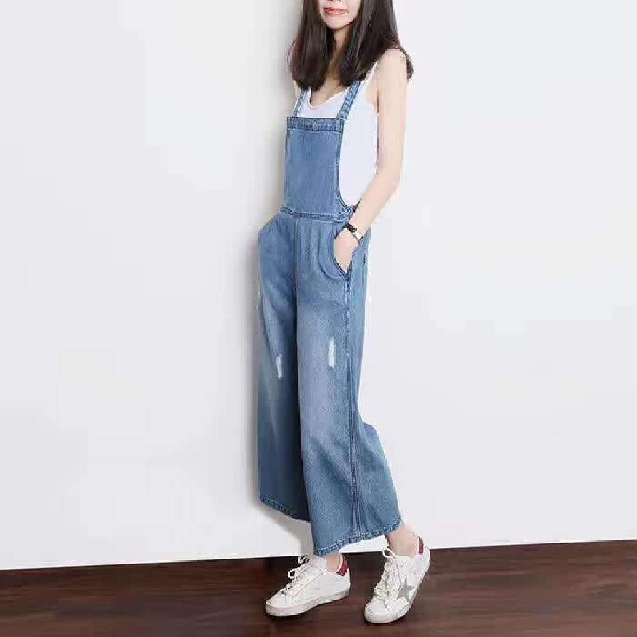 Zimaes-Women Overalls Relaxed Palazzo Lounge Washed Bibs Jumpsuits