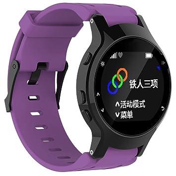 imjono Relojes de pulsera reloj pulsera de silicona Mujer Hombre + Funda protectora para Garmin Forerunner