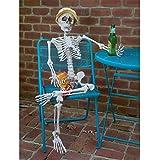 Prextex Tall Posable Halloween Skeleton- Full Body Halloween Skeleton with Movable /Posable Joints for Best Halloween Decoration