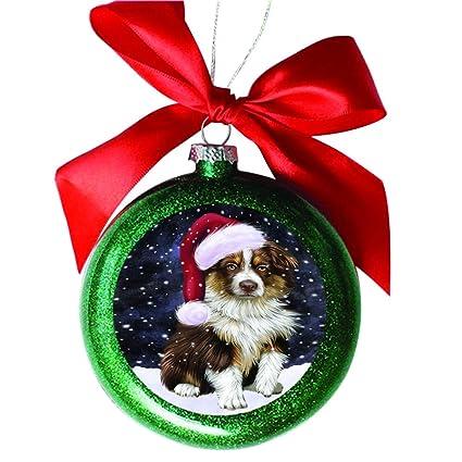 Australian Shepherd Christmas Ornament.Amazon Com Let It Snow Christmas Holiday Australian
