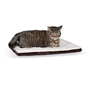 "K&H PET PRODUCTS Self-Warming Pet Pad, 21"" x 17"", Oatmeal/Chocolate"