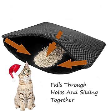 Queta Mat para Gato Doble Estructura Gato Inodoro para Gatos Matte Base para katzenklo: Amazon.es: Productos para mascotas