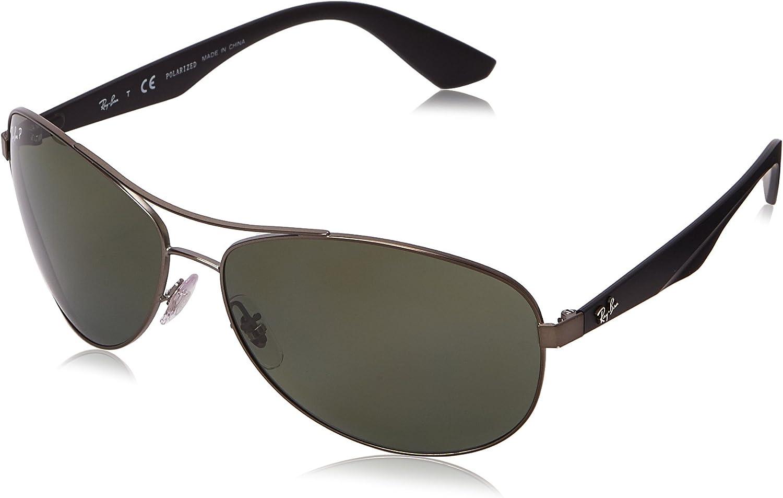 RAY-BAN Rb3526 Gafas de sol, Matte Gunmetal, 63 para Hombre