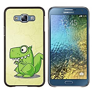 /Skull Market/ - Cute Funny T-Rex Dinosaur For Samsung Galaxy E7 E7000 - Mano cubierta de la caja pintada de encargo de lujo -