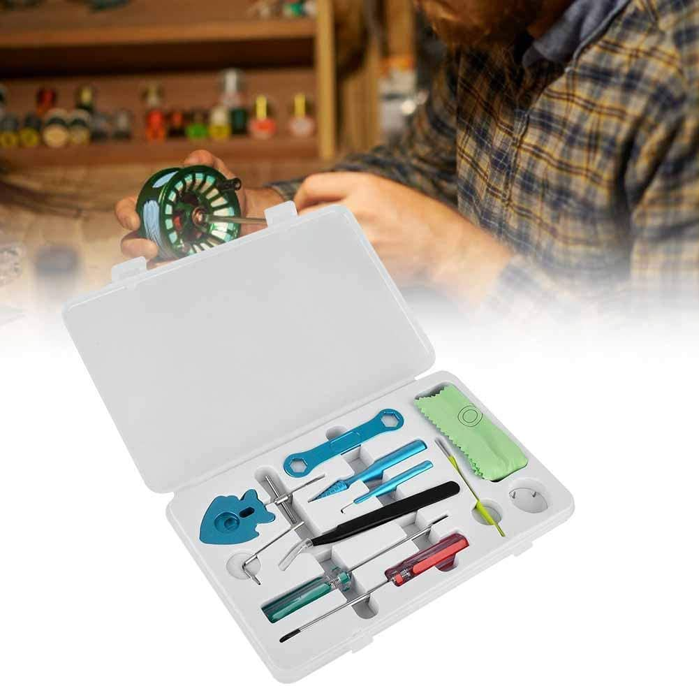 Reparaturwerkzeug f/ür Angelrollen 13 Teile//los Aluminiumlegierung DIY Angelrolle Spool Bearing Pin Remover Wartung Repair Kit