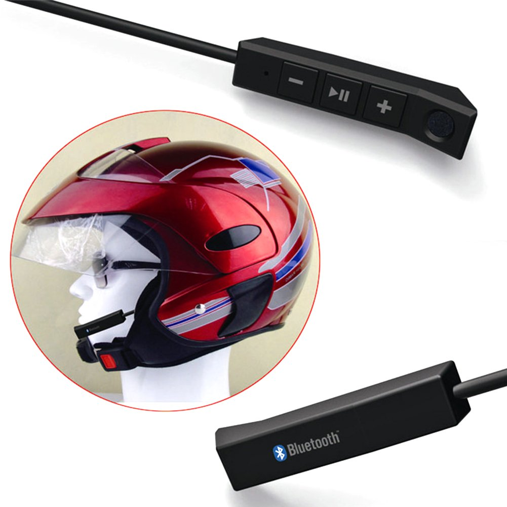 CD Ainstsk MP3 GPS Casco Bluetooth 4.1 para Motocicleta iPod Radio XM con Altavoces est/éreo m/úsica Control de Volumen