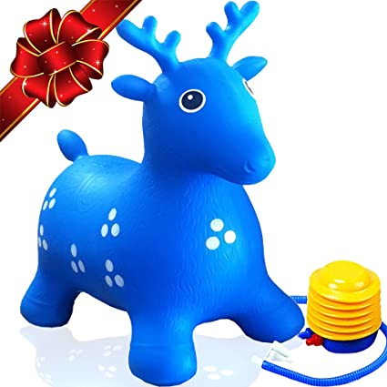 a31e464bcfd Amazon.com  ToysOpoly Inflatable Deer Bouncer Seat - Bouncy Animal ...