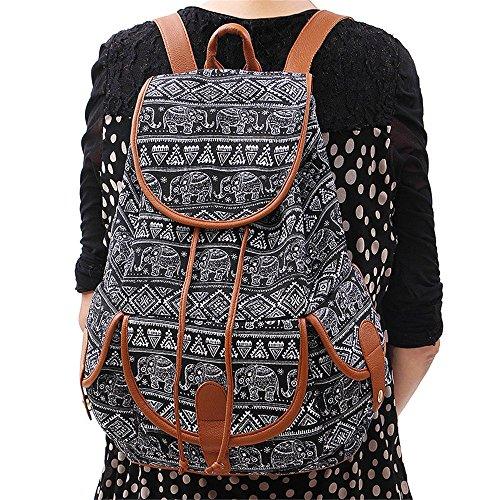 Ginli Pack Zaino Da Bag Cartella Backpack Ragazze Donne Le Per Canvas Book Giorno Viaggio Donna Casual Scuola Vintage K Sport Modacanvas Ragazzi rwxqIArYH