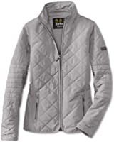 Barbour International Farleigh Quilted Jacket- Opal Grey, Size US 4