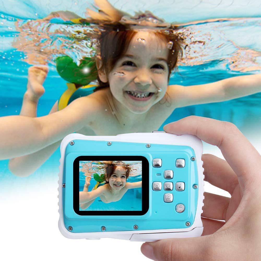Waterproof Digital Camera Kids 8X Digital Zoom, Kids Digital Camera 21MP HD Underwater Action Camera Camcorder 2.0 inch LCD Screen, Free 16GB Memory Card by Adoreco (Image #4)