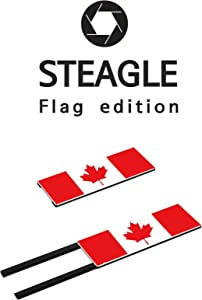 STEAGLE The Maple Leaf Flag Special Edition Webcam Cover [2nd Generation] for Your Privacy – Compatible with MacBook Surface Laptop PC - 0.03 inch Ultimate Thinness